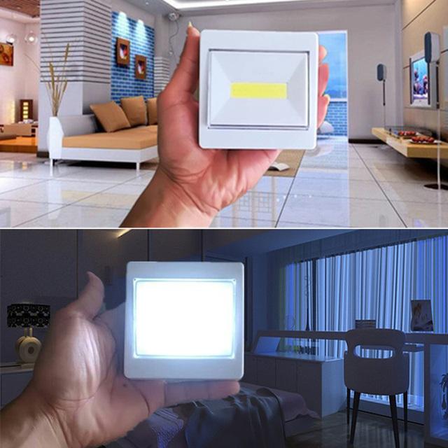 3W COB LED Wall Switch Wireless Closet Cordless Dimmable Night Light Battery Operated –M25
