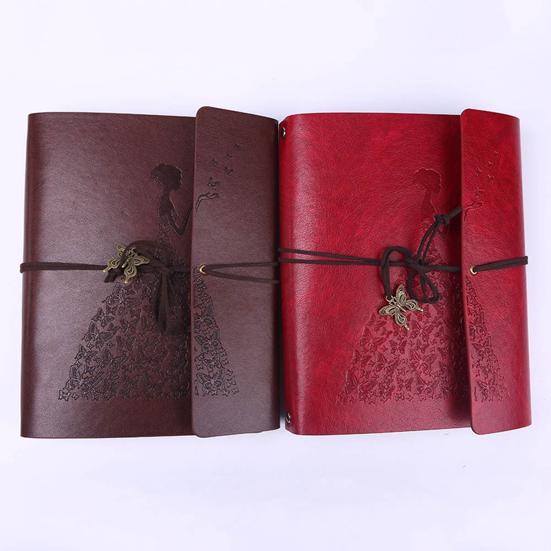 Retro Notebook Diary Notepad Vintage Literature PU Leather Note Book  Stationery Gift  Journal  Planners 2 Sizes