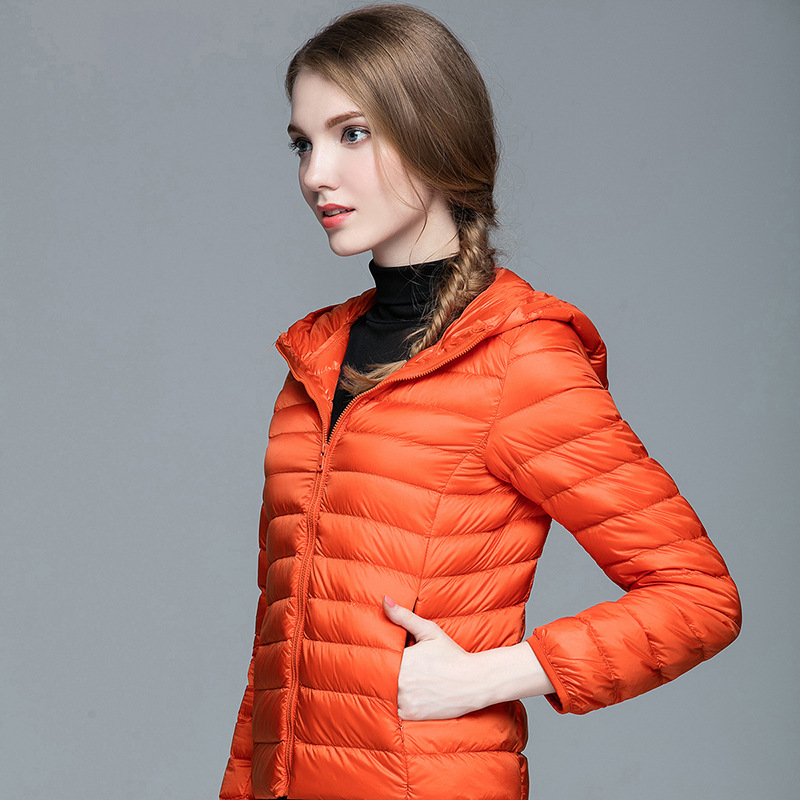SoftFox winter duck down jacket women and man short coat parkas thickening Warm Clothes Full Sleeve