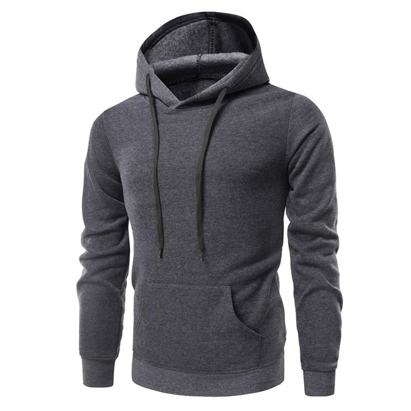 New Hoodies Men 2019 Male Long Sleeve Hoodie Thin section Plus cashmere Sweatshirt Mens Moletom Masculino Hoodies Slim Tracksuit in Hoodies amp Sweatshirts from Men 39 s Clothing