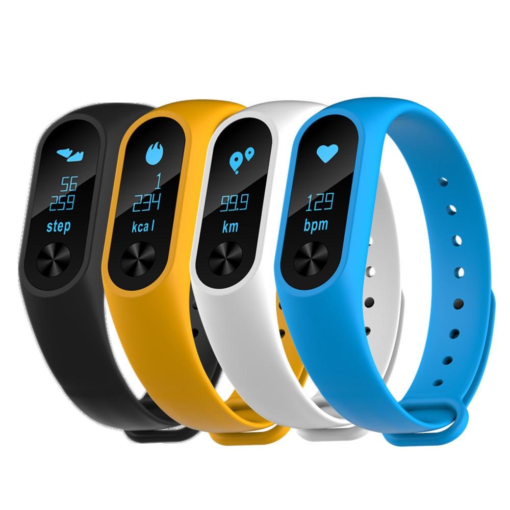 imágenes para ¡ Nuevo!! M2S pantalla OLED Pulsómetro Smartband Health Tracker para Android iOS teléfono pulsera fitbit reemplazo