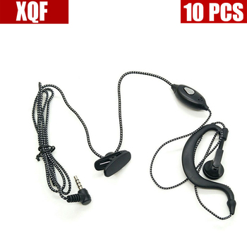 XQF 10PCS 1 PIN 3.5mm Small Square PTT Earpiece MIC for YAESU VX-3R/5R/10/110/132/168/210/ 300 FT -50/60R TSP-2100 New Black image