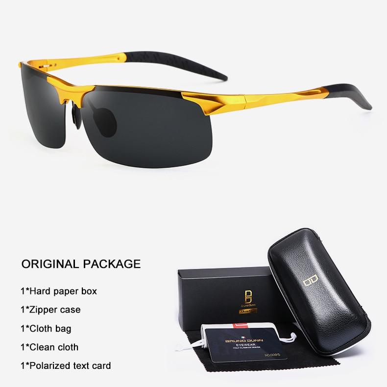 Bruno Dunn Driving polarized Men sunglasses 2020 sports High Quality UV400 Aluminum sun glasses for male oculos de sol masculino 18