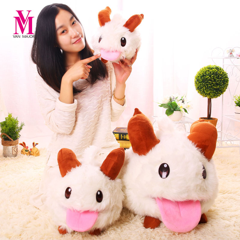 Vanmajor Plush Toys Soft Poro Plush Toy Poro Soft And Stuffed Animal Kids Toys Dolls 28/35cm Birthday Gifts tri fidget hand spinner triangle metal finger focus toy adhd autism kids adult toys finger spinner toys gags