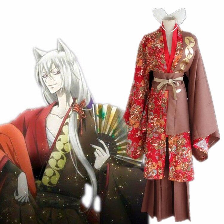 Japanese Anime ED kamisama love costume Japanese male Red kimono cosplay Kiss Tomoe Cosplay Halloween adult men play uniform