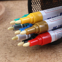 Colorful Universal Waterproof Car paintbrush Motorcycle Auto Wheel Tyre Tire Paint Marker Pen Rubber Permanent(China)