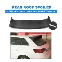 Carbon Fiber Rear Roof Spoiler Wing Lip for Audi A3 Hatchback 2014 2016 Rear Window Roof Top Spoiler