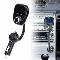 LCD Bluetooth Araç Kiti Handsfree Ses MP3 Çalar FM Verici Modülatör SD/TF/USB Oynatıcı Oto Araba-şarj w/Uzaktan Kumanda