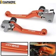 With LOGO 250XC-F Motorbike Dirt bike Pivot brake clutch lever  For KTM 2007-2013 250XC F 250 XC-F