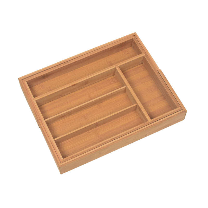 1 Pc Multifunctional Retractable Kitchen Tableware Box Five Shelves Pastoral Style Bamboo font b Knife b