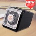 Jebely New Arrival Preto mini Único Watch Winder para relógios automáticos caixa de caixa de exibição de armazenamento caixa de relógio enrolador automático