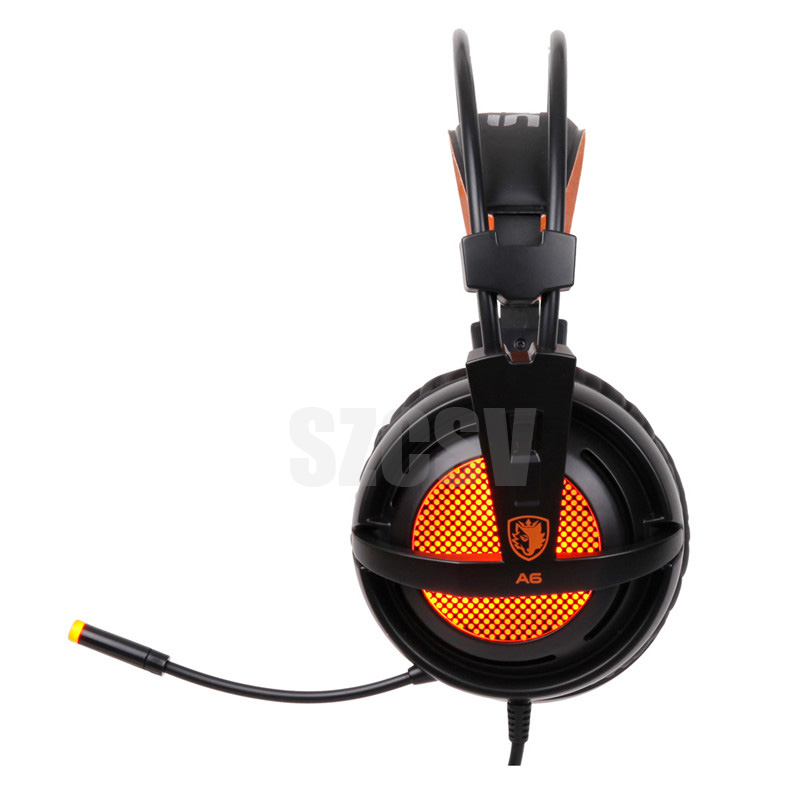 Sades A6 Gaming Headphones 7.1 Surround Sound Stereo USB Game Headset with Microphone Breathing LED Lights for PC Gamer (5)
