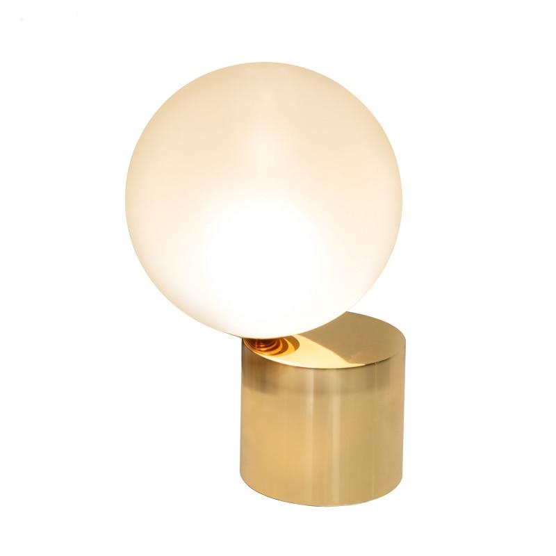 Qualified Modern Glass Ball Table Lamps Led Gold Stand Desk Lights For Living Room Bedroom Bedside Study Home Fixture Loft Decor Luminaire Lights & Lighting