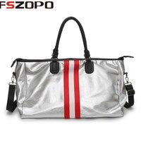 Striped Large capacity gym bag waterproof bags Women Gym Bag Shoulder Duffle Handbag Multifunctional Fitness Yoga Training Bag