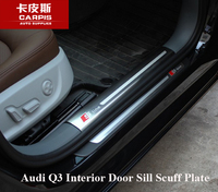 Stainless Steel Car Interior Door Sill Scuff Plate Pad Threshold Car Guards Sills For Audi Q3