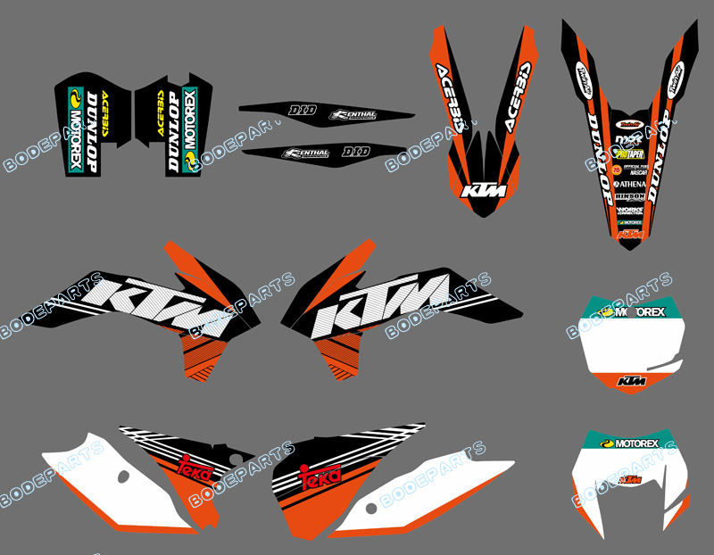 DST0582 Orange&White NEW TEAM GRAPHICS WITH MATCHING BACKGROUNDS FOR KTM 125/200/250/300/450/500 EXC XC-W XCF-W SIX DAYS 2014 - Yongkang Tongshida Industrial & Trade Co., Ltd. store