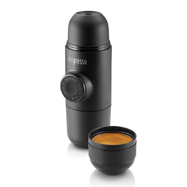 Minipresso GR, Portable Espresso Coffee Machine, Compatible Ground Coffee, Small/Mini Travel Coffee Maker
