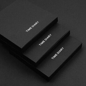 Image 4 - Cuaderno mágico negro A6 con bolígrafo, juego de mano, caja de regalo, Bloc de notas de piel sintética suave, pequeño libro de bolsillo cuadrado