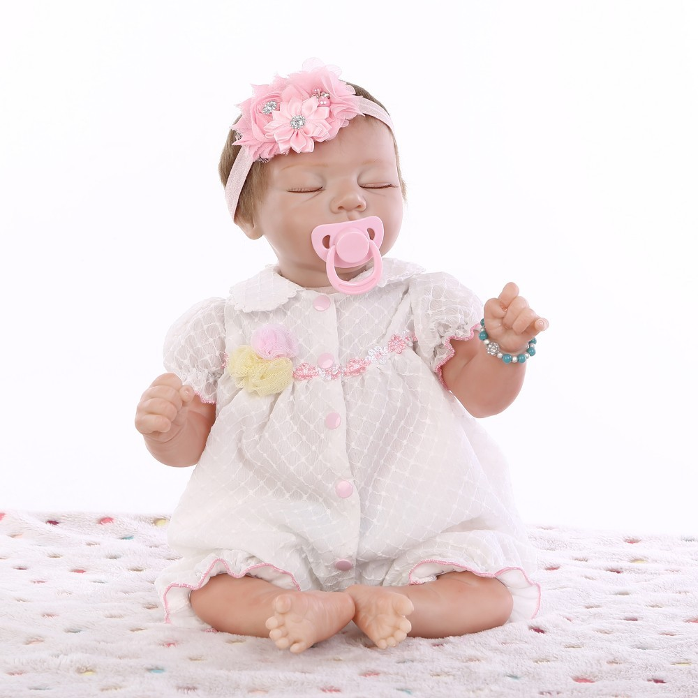 doll alive reborn doll with soft real gentle touch Handmade new design  22inch  soft body  lifelike soft silicone vinyl 2017 new design reborn sweet baby doll soft real gentle vinyl silicone touch body and wig hair