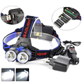 2xT6 LED Headlamp Hunting Lanterna 5000 Lumen Headlight  AA/AAA/18650 Kafa Lambasi Flashlight Head Lamp+Ac /Car Charger