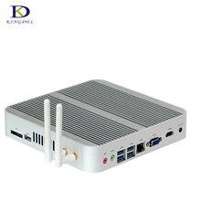 Безвентиляторный неттоп 6th Gen Skylake Windows 10 рабочих Мини ПК с Core i3 6100U 4 К VGA HDMI HTPC Wi-Fi HTPC мини настольный ПК 8 г