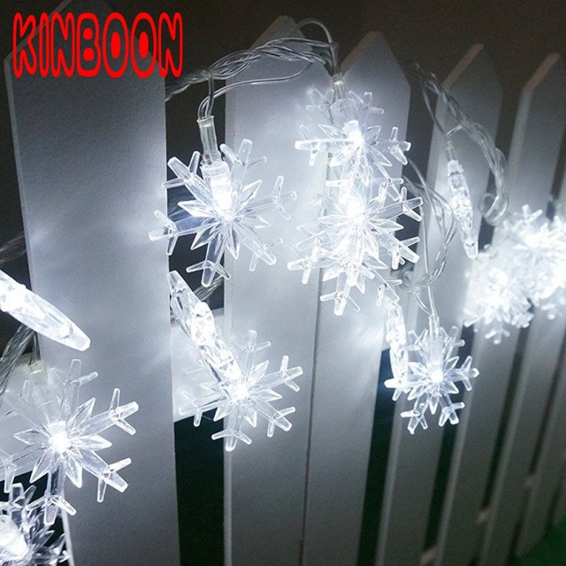 10m 80 Led Snowflake Battery Christmas String Lights For Home Garland Decoration Wedding Patio Indoor Bedroom