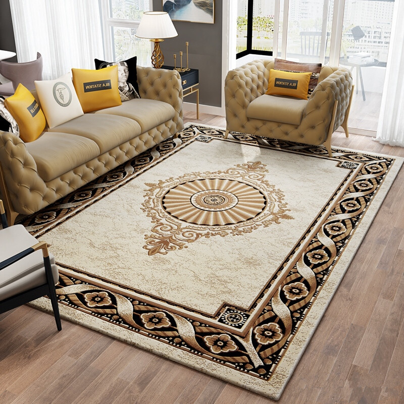 US $399.19 45% OFF|Hand Carved Living Room Carpet Luxury Villa Bedroom  Carpet Sofa Coffee Table Rug Thick Polypropylene Floor Mat Study Room  Rugs-in ...