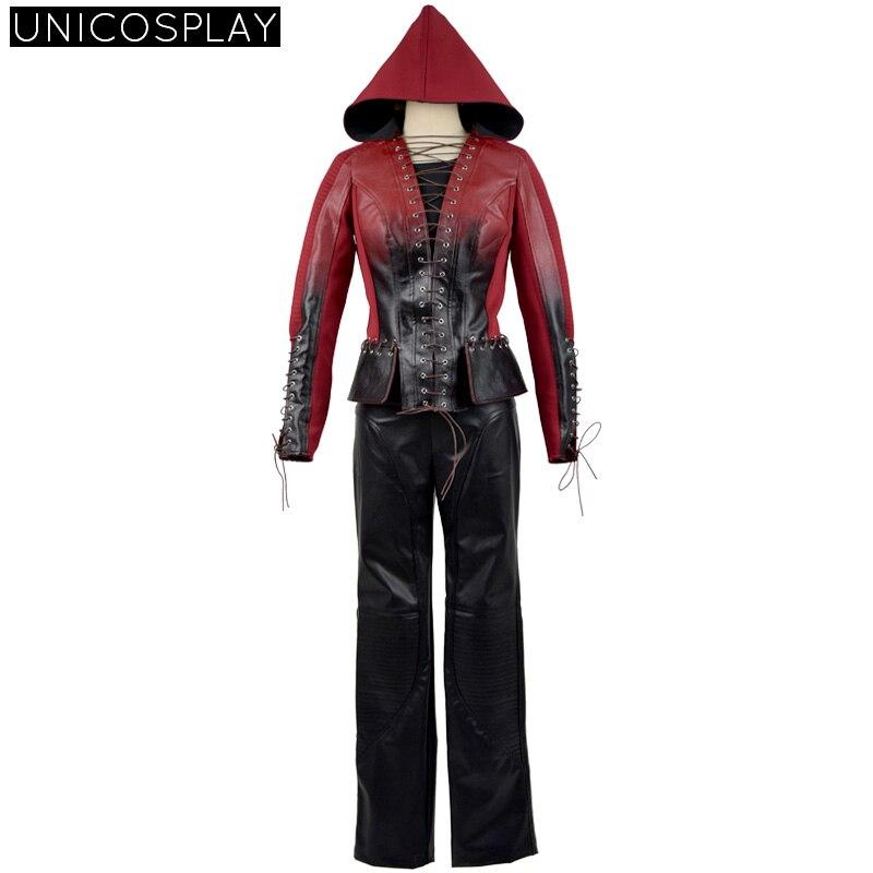 Green Arrow Season 3 Speedy Mia Dearden Cosplay Costume Halloween Uniform Outfits For Women Men Red Suit