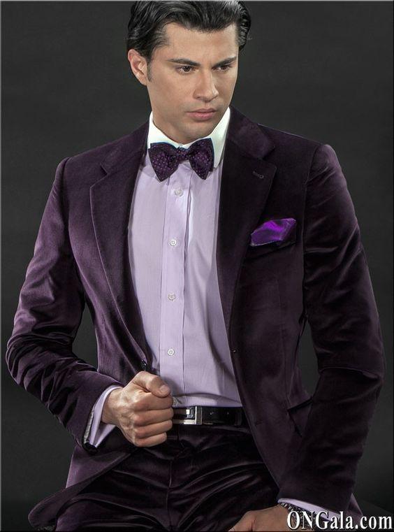 Latest Coat Pant Designs Italian Purple Velvet Men Suit Slim Fit 2 Piece Tuxedo Custom Groom Party Prom Suits Terno Masculino S2