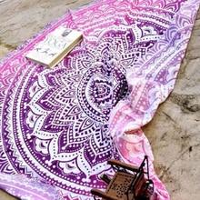 Microfiber Round Beach Towel Mandala Tapestry Beach Towel Bohemian Yoga Mat Swimming Bath Towel Chiffon Tapestry Wall Hanging цена