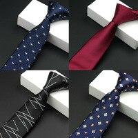 vintage mens fashion tie waterproof necktie dress business men ties plaid stripes casual suit with tie