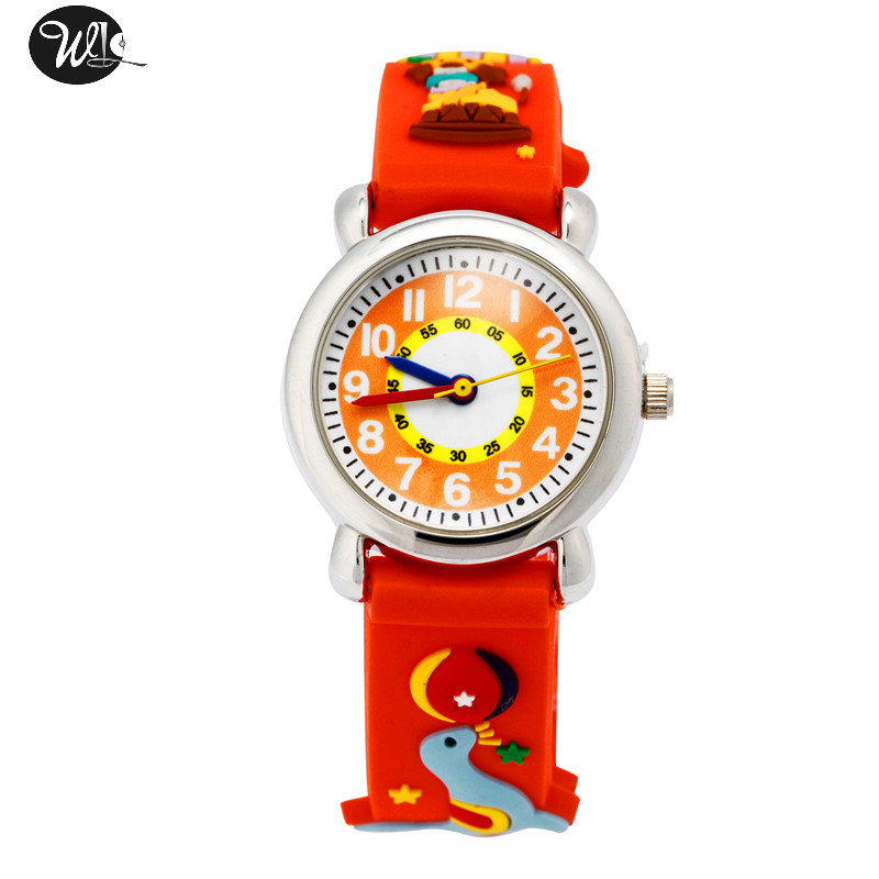 Children's Watch 3D Strap Cartoon Boy Girl Sea Lion Quartz Watch Pointer Electronic Waterproof Watch Child Gift Watch