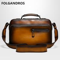 DHL Бесплатная доставка Италия телячья кожа сумка известный дизайнер Мужская Высокое качество Универсальный бизнес сумка для ноутбука