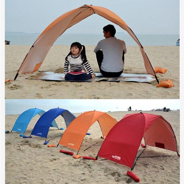Lightweight Portable Sun Shelter Beach Tent Summer Outdoor Garden Sun Awning Sun Shade Canopy Easy Setup Camping Fishing Hiking 2