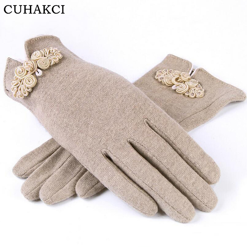 CUHAKCI Cashmere Gloves Winter Five Fings