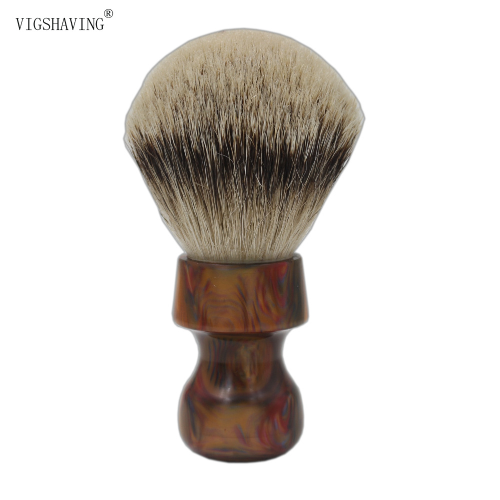 купить 30mm Knot Colorful Resin Handle Silvertip Badger Hair Shaving Brush for Barber Shave Tool по цене 2311.24 рублей