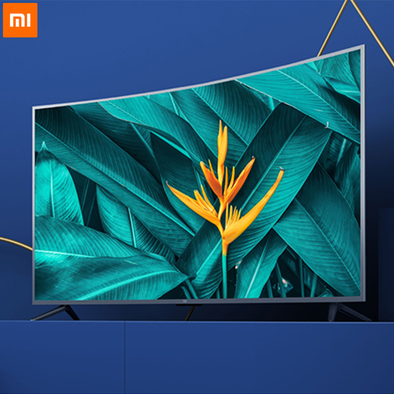 Xiaomi Chinois version TV 4S 55 pouces Courbe 4000R D'or Courbure 4 K Ultra HD Écran 2 GB + 8 GB La Lecture Plein Format Dolby Son
