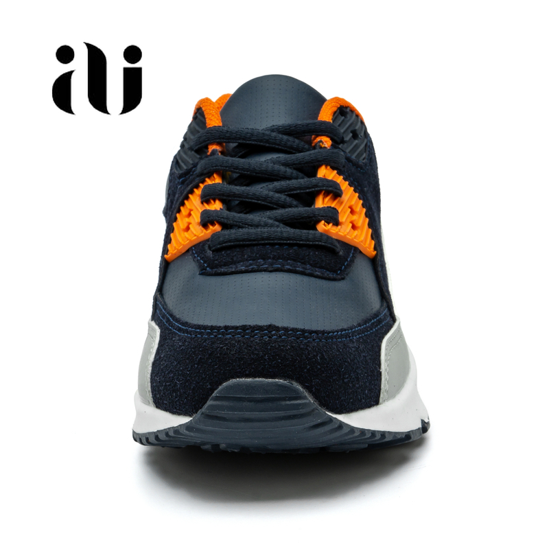 Image 3 - Новые детские повседневная обувь из кожи; обувь для бега для девочек кроссовки на воздушной подушке демпфирования мальчиков кроссовки, мягкая подошва; детская спортивная обувь-in Кроссовки from Мать и ребенок