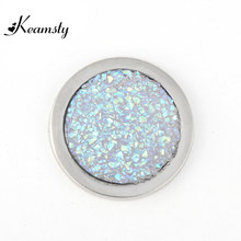Keamsty Hot Selling Aurora Borealis Crystal Disc Carlo Biagi Coin fit with 35mm Coin Holder Pendant(China)