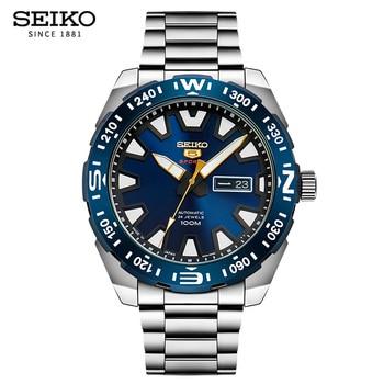 100% الأصلي ساعة Seiko الرجال التلقائي ساعة ميكانيكية الغوص ساعة رياضية الإنجليزية التقويم مضيئة الضمان العالمي SRP747J