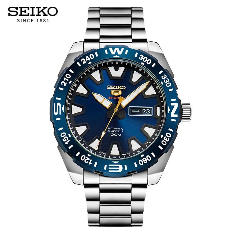 100% الأصلي ساعة Seiko الرجال التلقائي ساعة ميكانيكية الغوص ساعة رياضية الإنجليزية التقويم مضيئة الضمان العالمي SRP747J|الساعات الميكانيكية|   -