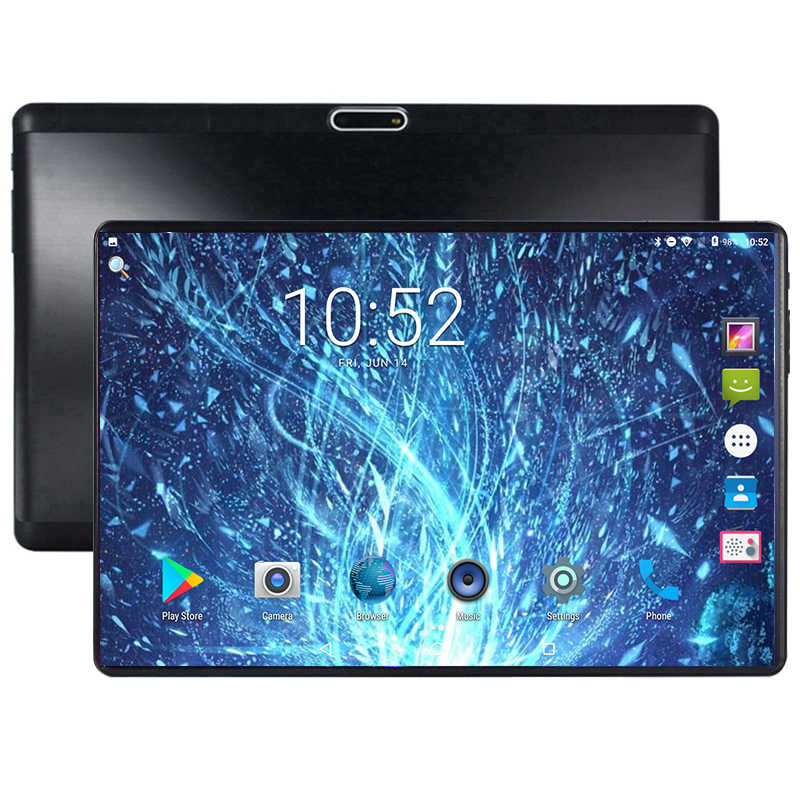 Super Gehärtetem Glas 10 inch Tablet PC Android 9,0 1,5 GB RAM 32GB ROM 5,0 MP WIFI Quad Core 3G 1280*800 IPS Tablet 10,1