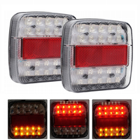 MALUOKASA 2x 46 LED Car Truck Tail Light Rear Lamps Waterproof Taillights Rear Turn Indicator License