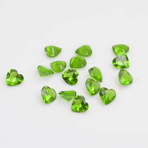 5mm heart birthstones floating charms olive , fit floating locket FS1004  ,10pcs/lot
