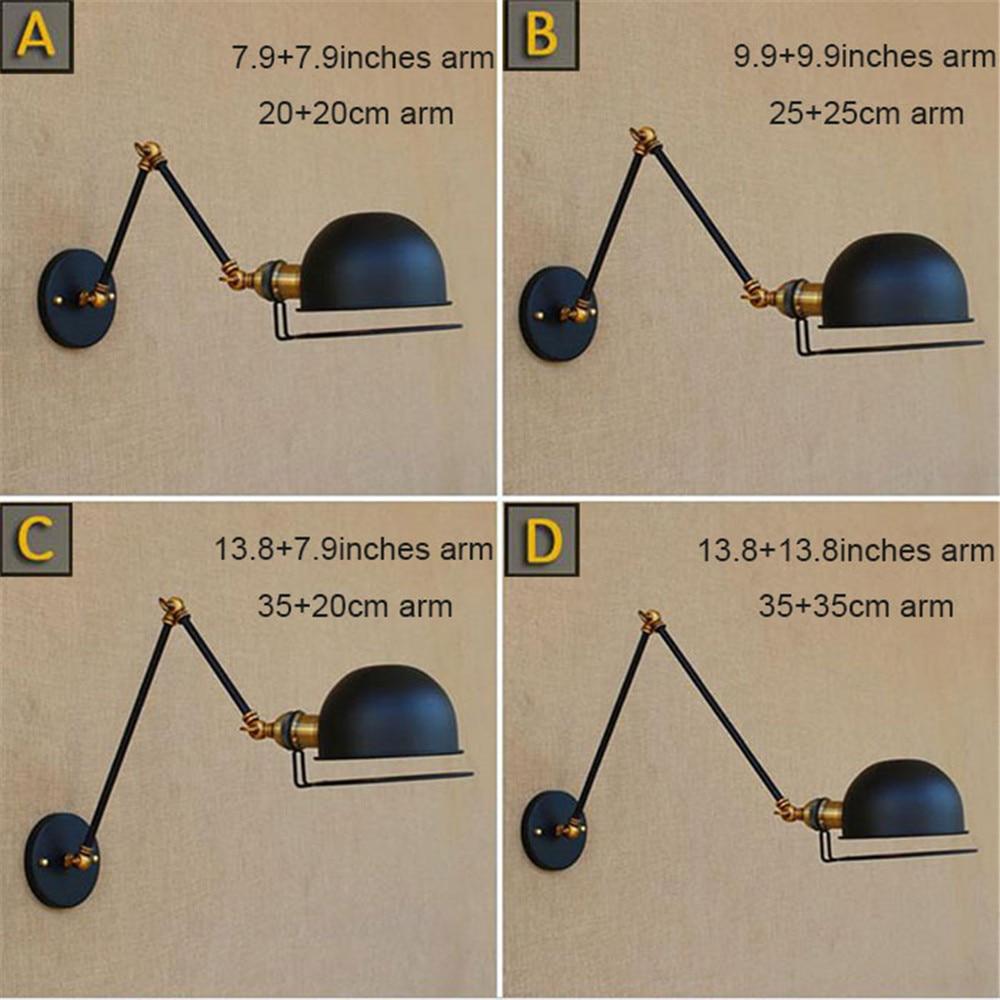 Wall Sconce Antique Brass wall Light Lamp Industrial Retro swing arm fixture modern e27 art deco wall lamp wandlamp industrieel