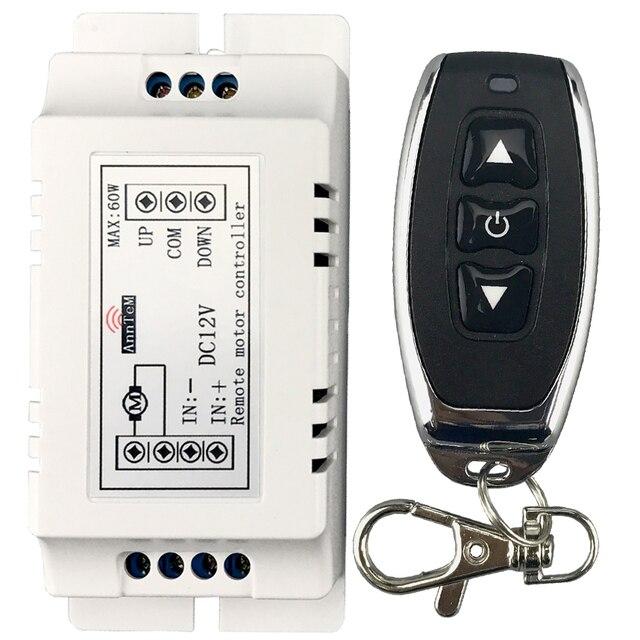 Беспроводной пульт дистанционного управления 433 МГц, радиочастотный передатчик, приемник, dc 9 в 12 В, моторный аккумулятор, усилитель вперед, назад, Рулевое управление