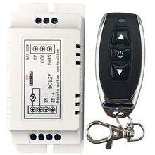 Commutateur de télécommande sans fil 433 mhz rf émetteur récepteur dc 9 v 12 v moteur batterie alimentation en marche arrière direction contrôleur