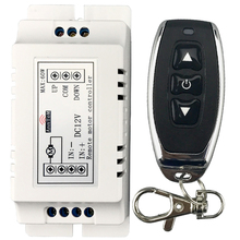 Interruptor de Control remoto inalámbrico para coche receptor de TRANSMISOR DE rf de 433mhz, con batería de Motor dc 9v 12v, controlador de dirección inversa