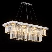 Новый дизайн 2 слоя кристалл кулон люстра современные лампы AC110V 220 В блеск светодиодный столовая hanglamp бар огни