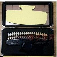 A0270 Роскошные Упакованные 20 цветов 3D тени руководство цвет Стоматологическое приспособление для сравнения при отбеливании с зеркалом отбе